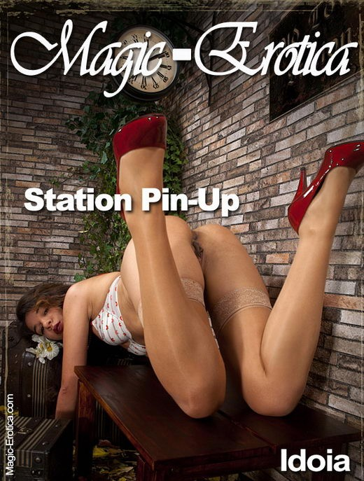 Idoia - `Station Pin-Up` - by Luis Durante for MAGIC-EROTICA