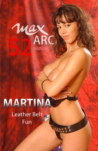 Martina - `Leather Belt Fun` - by Max Iannucci for MAXARCHIVES