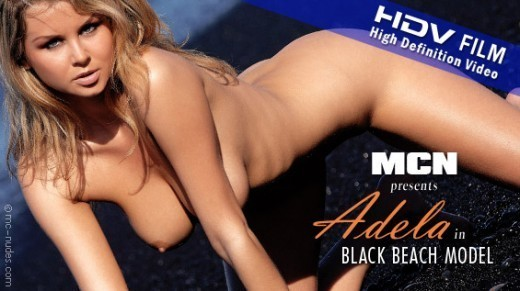 Adela - `Black Beach Model` - for MC-NUDES VIDEO