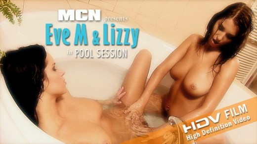 Eve M & Lizzy - `E & L in Pool Session` - for MC-NUDES VIDEO