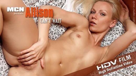 Allison - `Cant Wait` - for MC-NUDES VIDEO