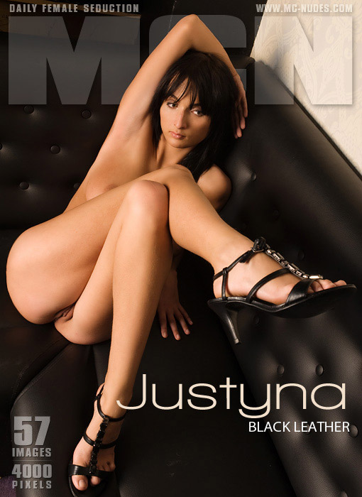 Justyna - `Black Leather` - for MC-NUDES