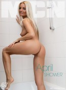 April in Shower gallery from MC-NUDES