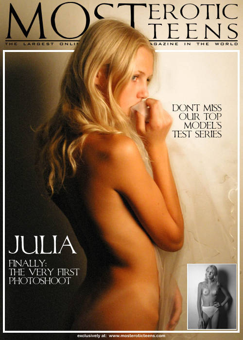 Julia A - `The Very First Photoshoot` - for METART ARCHIVES