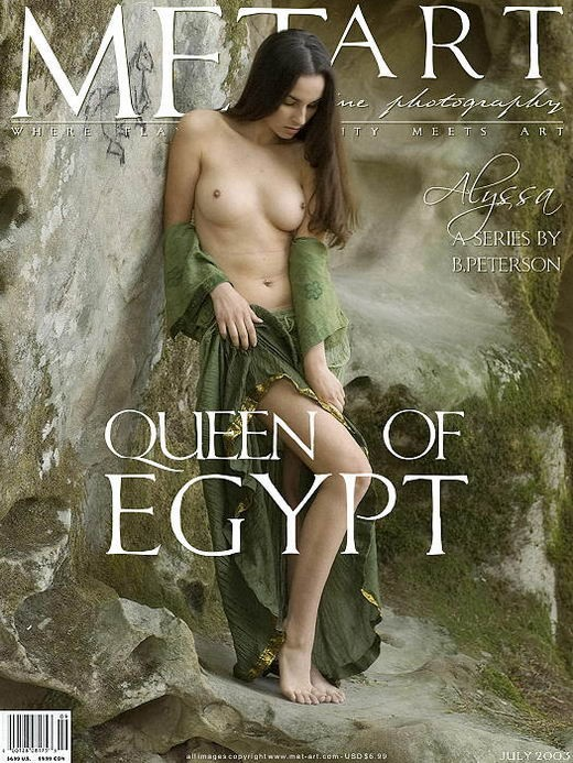 Alissa A - `Queen Of Egypt 03` - by Brian Peterson for METART ARCHIVES