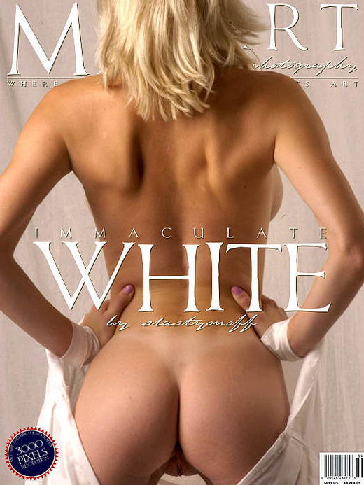 Narkiss - `Immaculate White 01` - by Slastyonoff for METART ARCHIVES