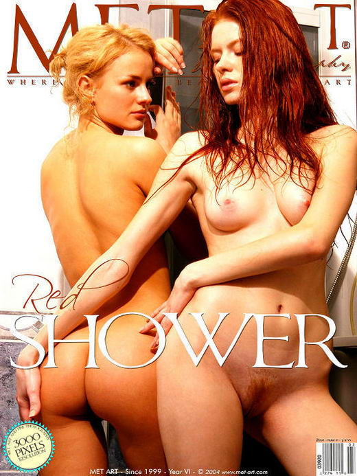 Tanya I & Ulya B - `Red Shower` - by Voronin for METART