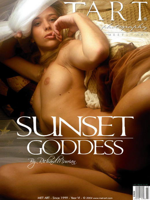 Lucy S - `Sunset Goddess 3` - by Richard Murrian for METART