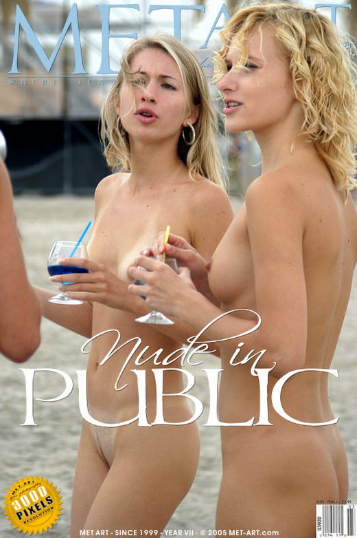 Lena & Vika - `Nude In Public -The Photo Shoot` - by Roman Kour for METART