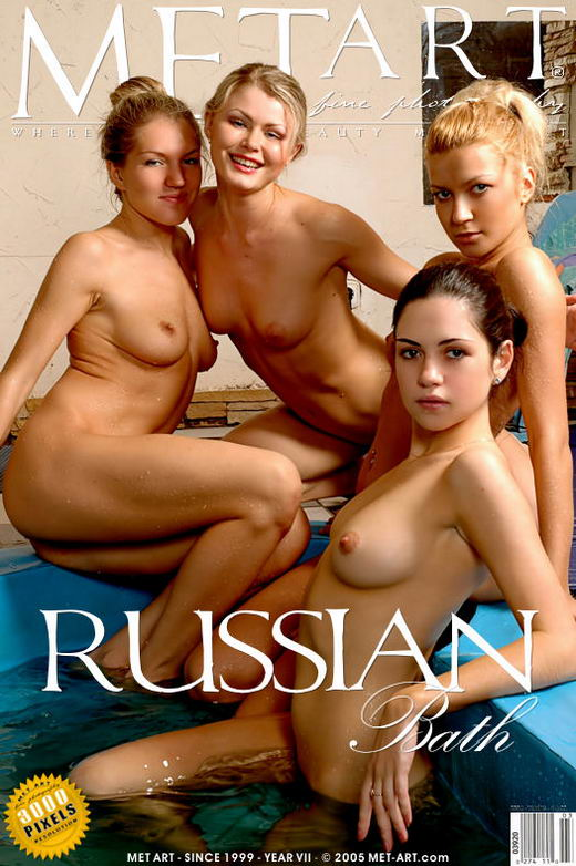 Bella A & Ingret A & Kristina G & Kira B - `Russian Bath` - by Ingret for METART