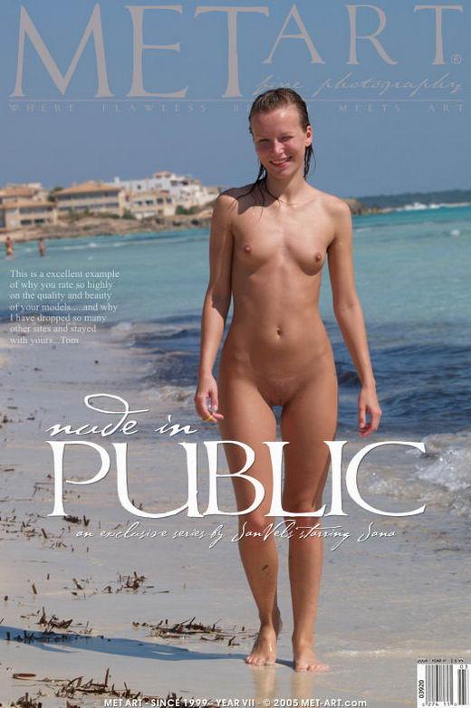 Jana D - `Nude In Public With Jana` - by Jan Vels for METART