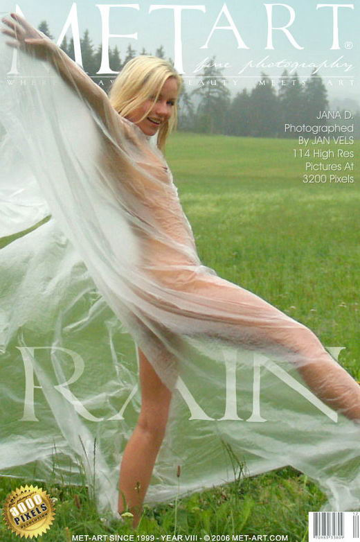 Jana D - `Rain` - by Jan Vels for METART