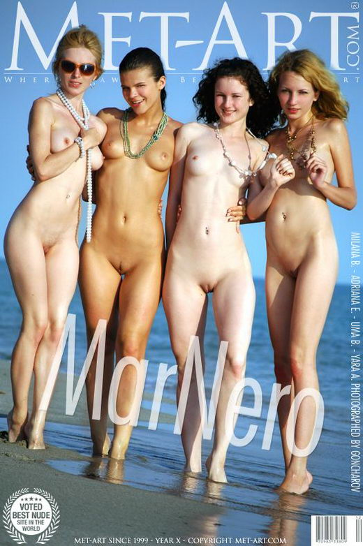 Yara A & Uma B & Adriana E & Milana B - `Mar Nero` - by Goncharov for METART