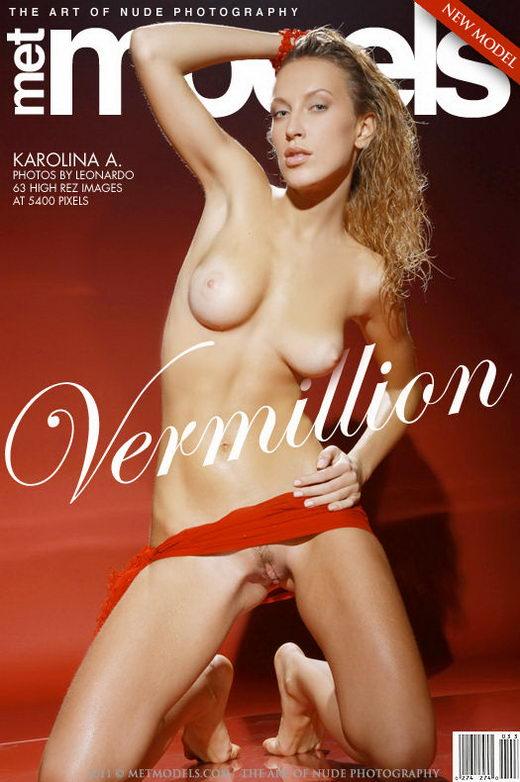Karolina A - `Vermillion` - by Leonardo for METMODELS
