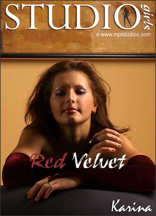 Karina in Red Velvet gallery from MPLSTUDIOS by Alexander Fedorov