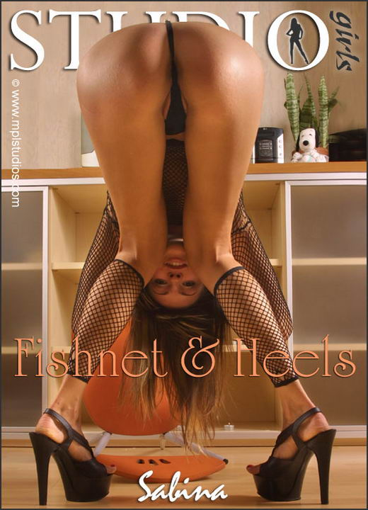 Sabina in Fishnet & Heels gallery from MPLSTUDIOS by Alexander Fedorov