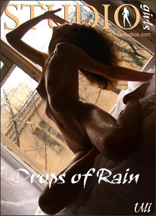 Uli in Drops Of Rain gallery from MPLSTUDIOS by Alexander Fedorov