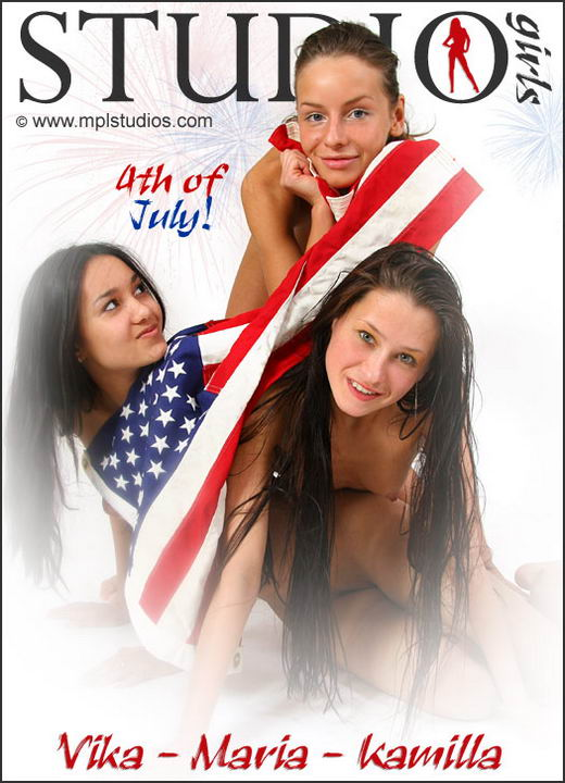 Vika & Maria & Kamilla in 4th Of July gallery from MPLSTUDIOS by Alexander Fedorov