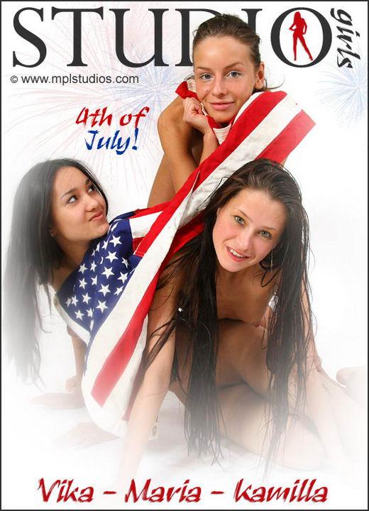 Vika & Maria & Kamilla - `4th Of July` - by Alexander Fedorov for MPLSTUDIOS