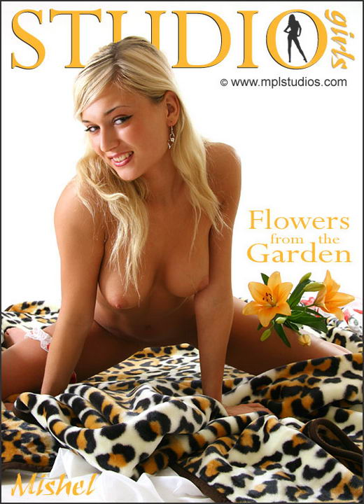 Mishel in Flowers From The Garden gallery from MPLSTUDIOS by Alexander Fedorov