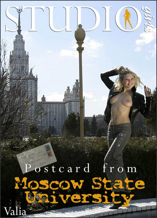 Valia - `Postcard from Moscow State University` - by Alexander Lobanov for MPLSTUDIOS
