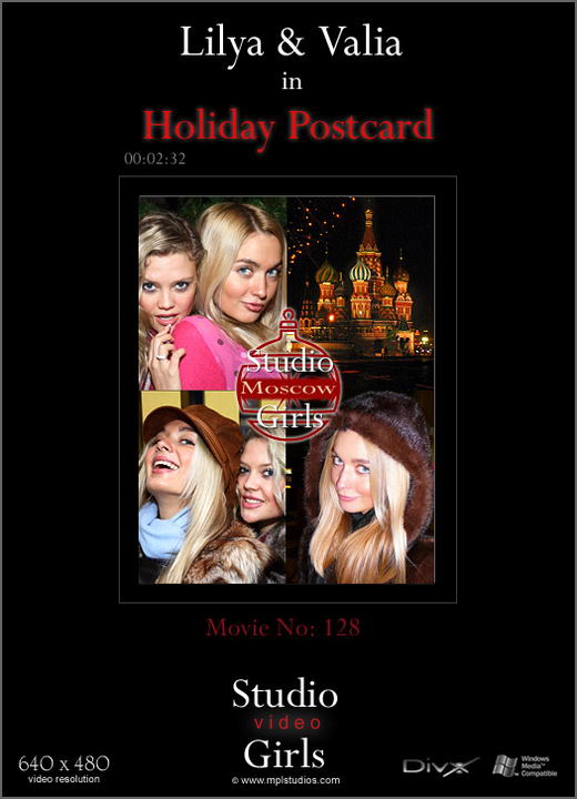 Lilya and Valia - `Video Holiday Postcard` - by Alexander Lobanov for MPLSTUDIOS