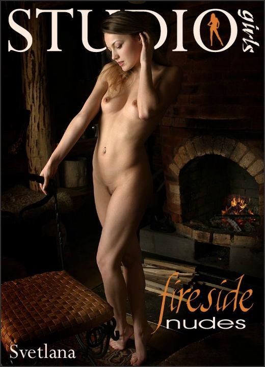 Svetlana - `Fireside Nudes` - by Alexander Lobanov for MPLSTUDIOS