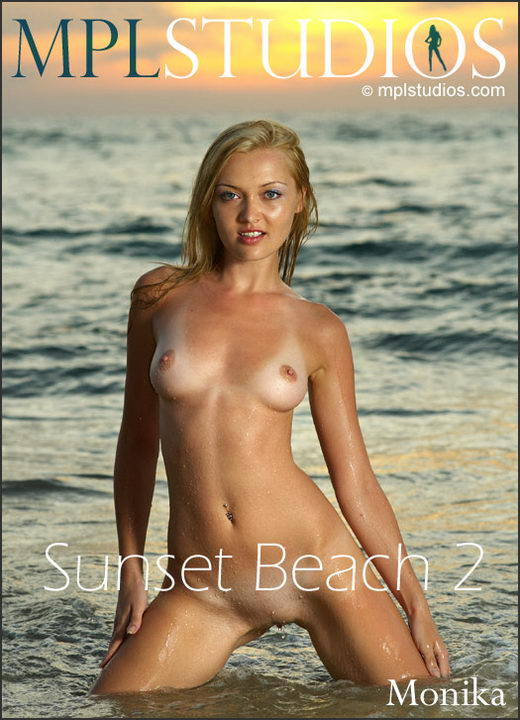 Monika - `Sunset Beach 2` - by Jan Svend for MPLSTUDIOS