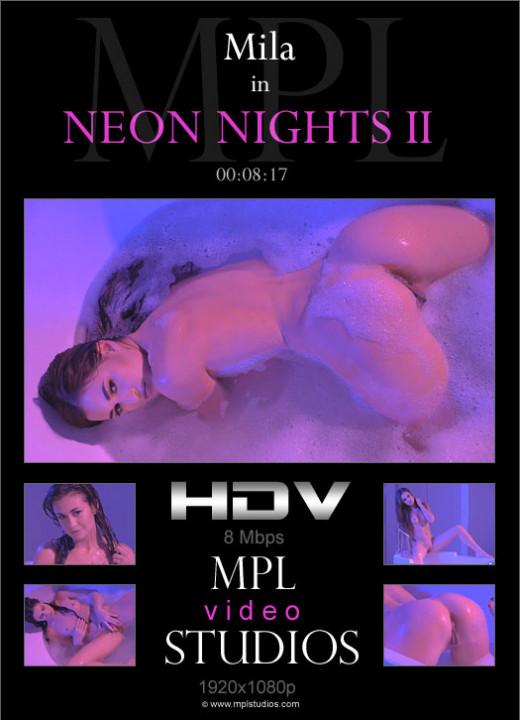 Mila in Neon Nights II video from MPLSTUDIOS by Adam Green