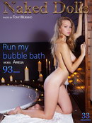 Amelia in Run My Bubble Bath gallery from MY NAKED DOLLS by Tony Murano