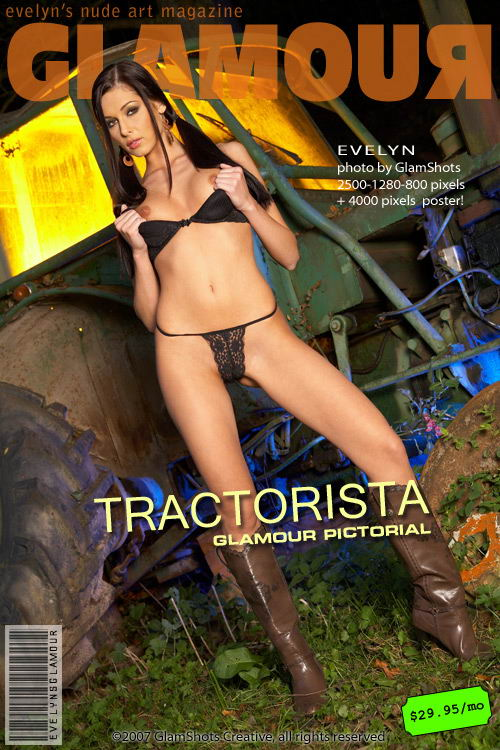 Evelyn Lory - `Tractorista` - by Tom Veller for MYGLAMOURSITE