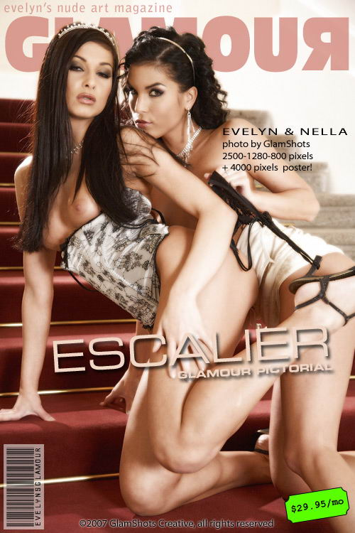 Evelyn Lory & Nella - `Escalier` - by Tom Veller for MYGLAMOURSITE
