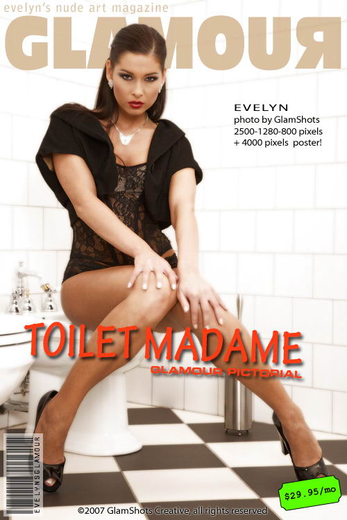 Evelyn Lory - `Toilet Madame` - by Tom Veller for MYGLAMOURSITE