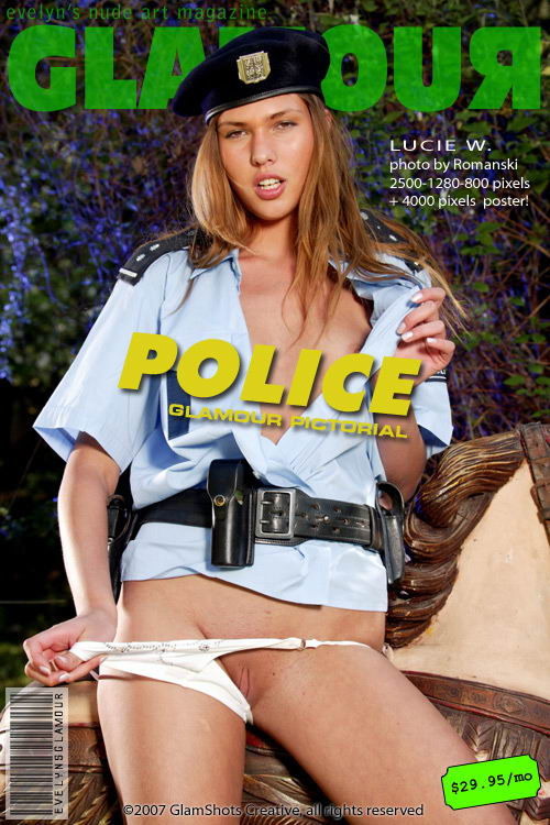 Lucie W - `Police` - by Tom Veller for MYGLAMOURSITE