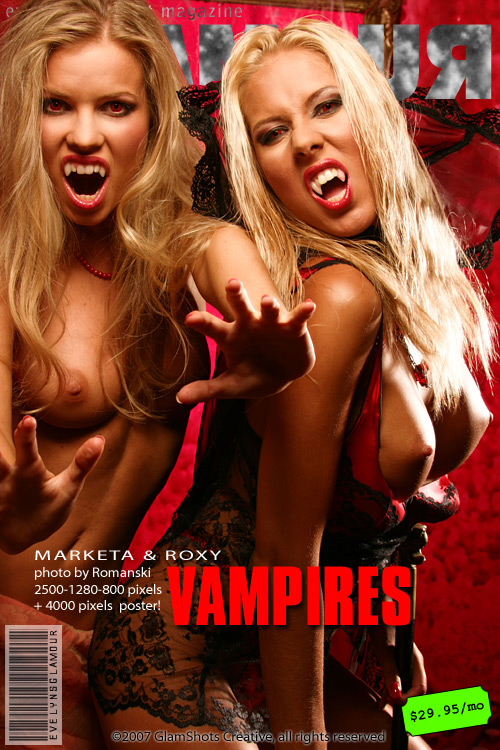 Marketa & Roxy - `Vampires` - by Tom Veller for MYGLAMOURSITE