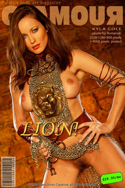 Kyla Cole - `Lion` - by Tom Veller for MYGLAMOURSITE