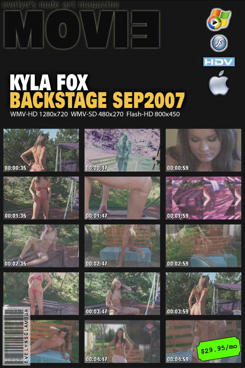 Kyla Fox - `Backstage` - by Tom Veller for MYGLAMOURSITE