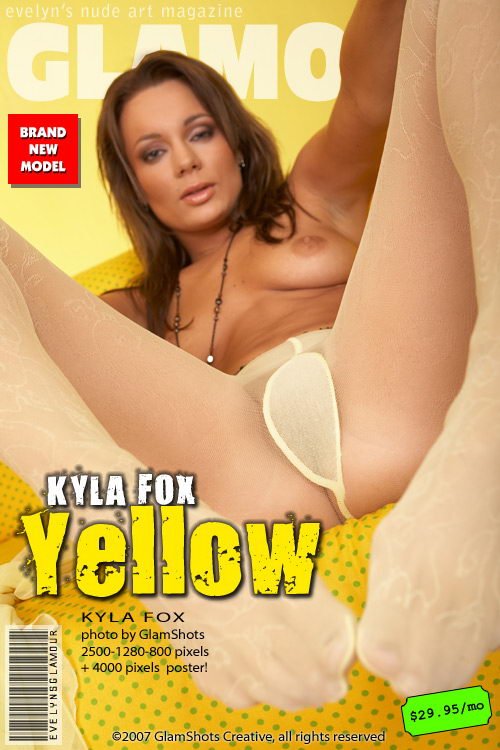 Kyla Fox - `Yellow` - by Tom Veller for MYGLAMOURSITE