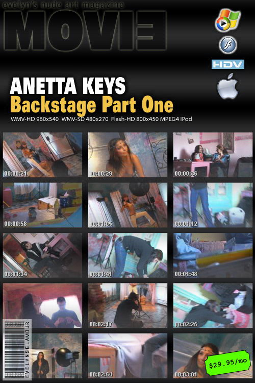 Anetta Keys - `Backstage Part One` - by Tom Veller for MYGLAMOURSITE