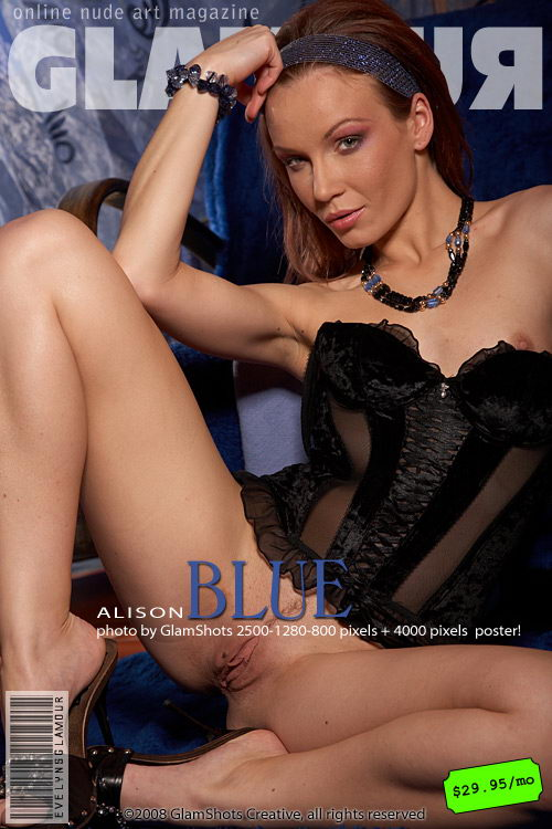 Alison - `Blue` - by Tom Veller for MYGLAMOURSITE