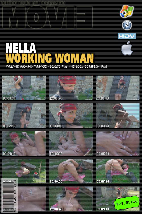 Nella - `Working Woman` - by Tom Veller for MYGLAMOURSITE