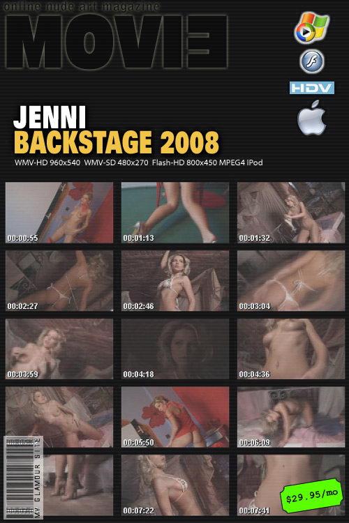 Jenni - `Backstage` - by Tom Veller for MYGLAMOURSITE