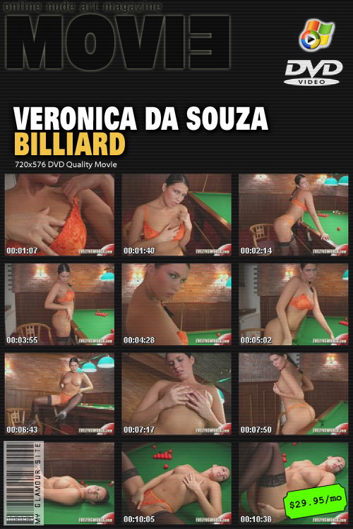Veronica Da Souza - `Billiard` - by Tom Veller for MYGLAMOURSITE