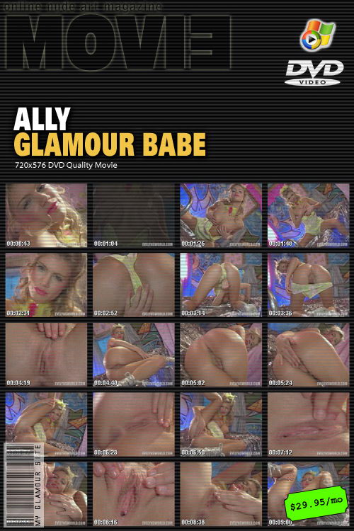 Ally - `Glamour Babe` - by Tom Veller for MYGLAMOURSITE