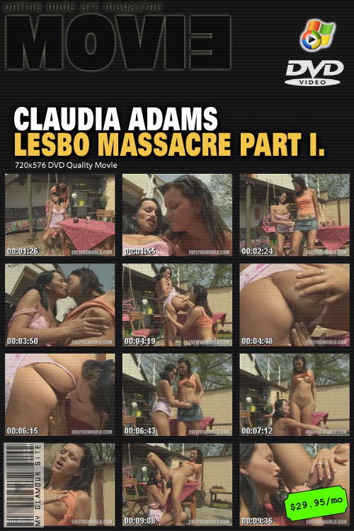 Claudia Adams - `Lesbo Massacre Part I` - by Tom Veller for MYGLAMOURSITE