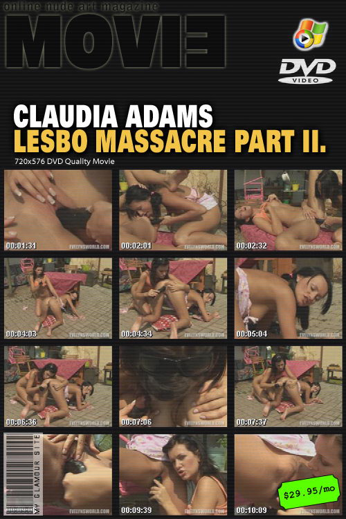 Claudia Adams - `Lesbo Massacre Part II` - by Tom Veller for MYGLAMOURSITE