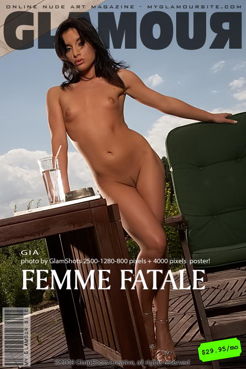 Gia - `Femme Fatale` - by Tom Veller for MYGLAMOURSITE