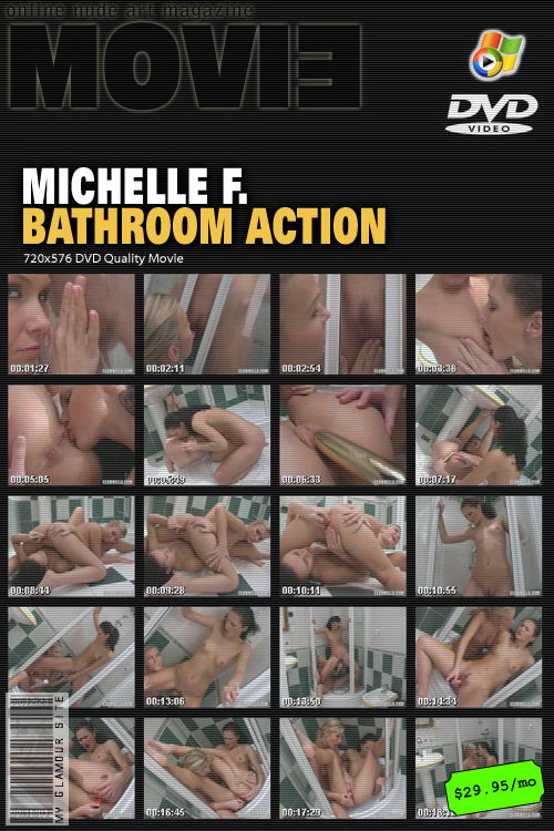 Michelle F - `Bathroom Action` - by Tom Veller for MYGLAMOURSITE