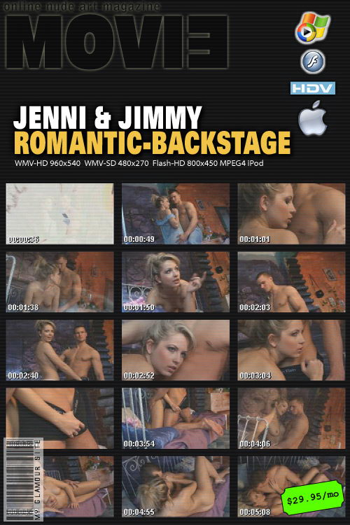 Jenni in Jimmy - Romantic Backstage video from MYGLAMOURSITE by Tom Veller