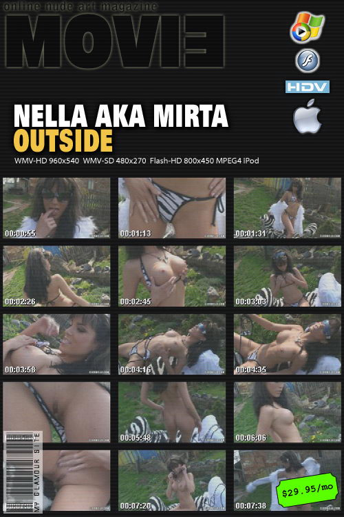 Nella in Outside video from MYGLAMOURSITE by Tom Veller